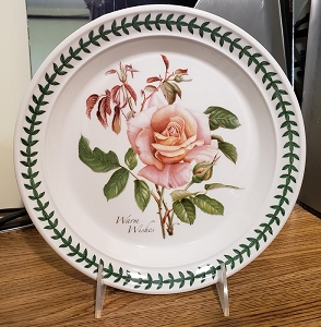 Portmeirion Botanic Roses Salad Plate Warm Wishes