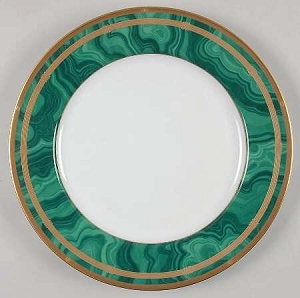 Christian Dior Gaudron Malachite Dinner Plate
