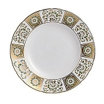 Royal Crown Derby Derby Panel Green Dinner Plate, 10 in.