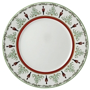 Bernardaud Grenadiers Accent Service Plate - Red Stripe
