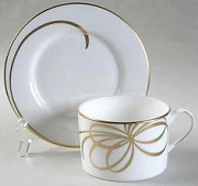 Kate Spade Retired Belle Boulevard Gold Teacup And Saucer