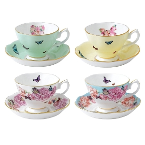 Royal Albert MIRANDA KERR TEACUP & SAUCER FRIENDSHIP 4PC SET