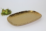 Pampa Bay Monaco Titanium-Plated Porcelain-Gold Tone Ceramic Beaded Lg Rect Platter