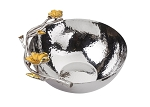 Classic Touch Hammered Stainless Steel Small Bowl