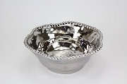 Pampa Bay Verona Titanium-Plated Porcelain Ceramic Beaded Medium Bowl, 8.5 in. x 3.5 in.
