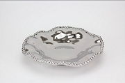 Pampa Bay Verona Titanium-Plated Ceramic Beaded Serving Plate, 10 in. x 2 in.