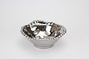 Pampa Bay Verona Titanium-Plated Ceramic Beaded Small Bowl, 5.5 x 2 in.