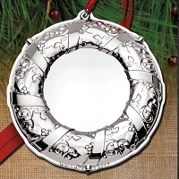 Wallace 2017 Engravable Ornament, (Wreath) 5th Anniversary Edition