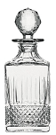 St. Louis TOMMY Square Whisky decanter 9.3 In, 22 oz