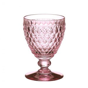 Villeroy and Boch Boston Colored Goblet : Rose-Set of 4