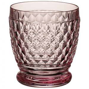 Villeroy and Boch Boston Colored Double Old Fashioned : Rose-Set of 4