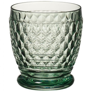 Villeroy and Boch Boston Colored Double Old Fashioned : Green-Set of 4