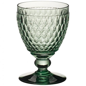 Villeroy and Boch Boston Colored Goblet : Green-Set of 4