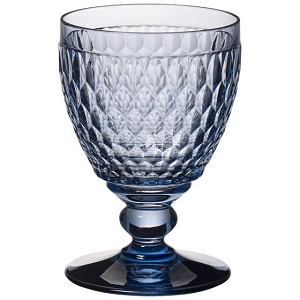 Villeroy and Boch Boston Colored Goblet : Blue-Set of 4