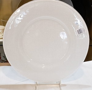 Villeroy and Boch Verona Charger : White Glitter