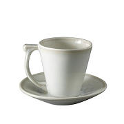 Jars WHITE PEARL VUELTA Coffee Cup & Saucer  5 oz