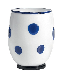 Zafferano Bon Bon Tumbler White With Blue Dots - PAIR