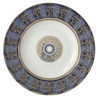 Bernardaud Eventail Blue Rim Soup