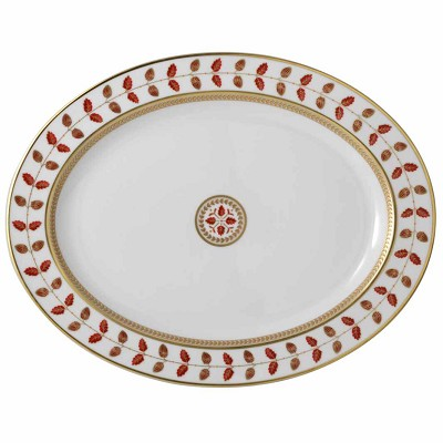 Bernardaud Constance Red Oval Platter - 15 In
