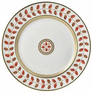 Bernardaud Constance Red Dinner Plate - 10.2 In