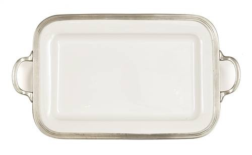 "Arte Italica Tuscan Rectangular Tray with Handles 20.75"" L x 12"" W"