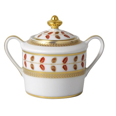 Bernardaud Constance Red Sugar Bowl