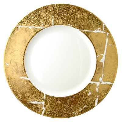 Bernardaud Gold Leaf Service Plate - 12.6 In Sp Order