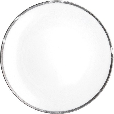 Bernardaud Silver Leaf Coupe Dinner Plate - 10.2 In Sp Order