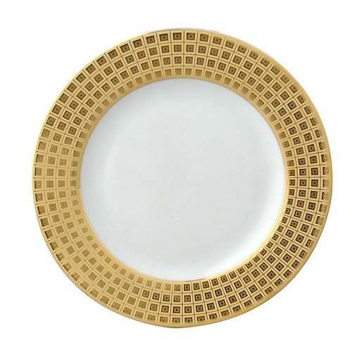 Bernardaud Athena Gold Accent B & B Plate - Full Rim Design