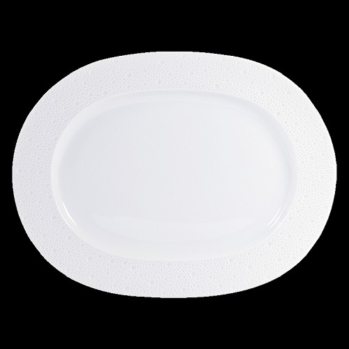 Bernardaud Ecume White Oval Platter - 13.8 In