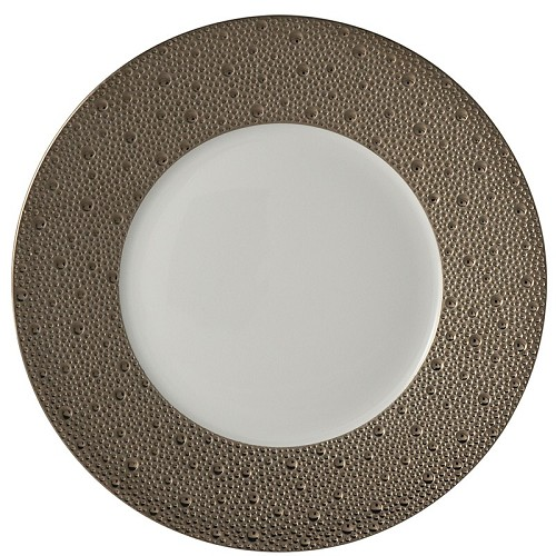 Bernardaud Ecume Platinum Dinner Plate - 10.2 In