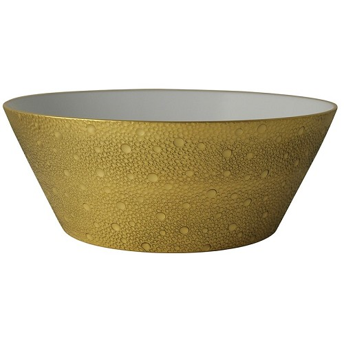 Bernardaud Ecume Gold Salad Bowl - 11 In