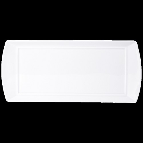 Bernardaud Fusion White Rectangular Sumba Tray - 13.6 X 6.1 In