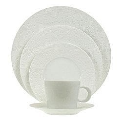 Bernardaud Ecume White 5 Pc Setting
