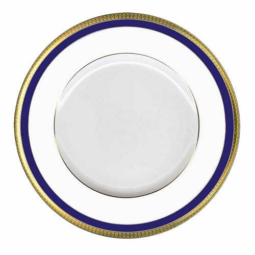 Haviland SYMPHONY GOLD AND BLUE Dinner Plate