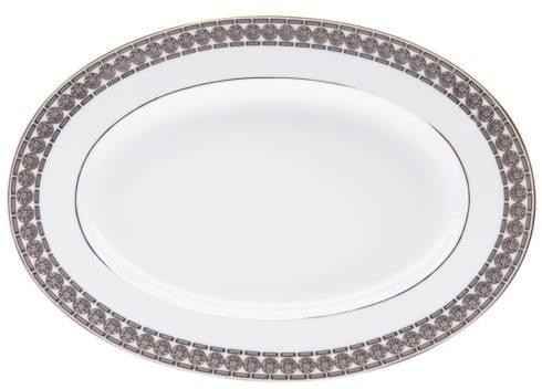 Haviland ETERNITY WHITE AND PLATINUM Small Platter / Pickle Dish
