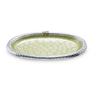 "Julia Knight Queen Bee 11.5"" Oval Tray Kiwi"