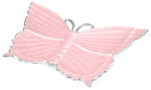 "Julia Knight Butterfly 17"" Platter Pink Ice"