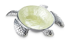 "Julia Knight Sea Turtle 10"" Bowl Kiwi"
