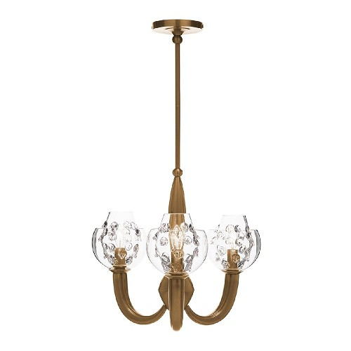 Florence Double Shade on Paris Chandelier-Brass