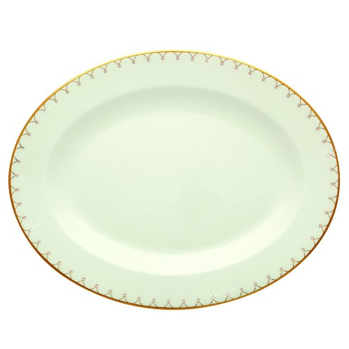 "Prouna Princess Gold 9"" Oval Platter"