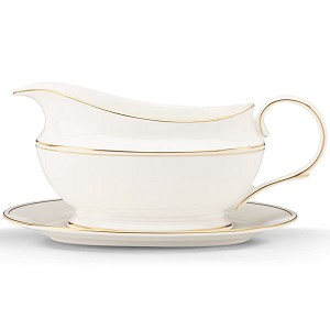 Lenox  FEDERAL GOLD DW SAUCE BOAT & STAND 8.8 l,16 oz
