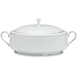 Lenox  HANNAH PLATINUM DW COVERED VEGETABLE BOWL 13.0 l