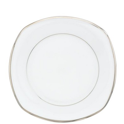 Lenox  SOLITAIRE WHITE DW SQUARE ACCENT PL 8 d