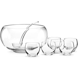 Lenox  TUSCANY CLAS 8 PC PUNCH BOWL SET 6 in h,10 in d,6 Qt