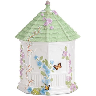 Lenox  BUTTERFLY MEADOW GAZEBO COOKIE JAR 10 h,6 d