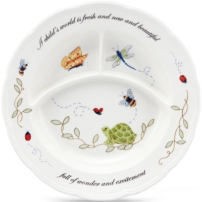 Lenox  BUTTERFLY MEADOW BABY DIVIDED DISH 8.5 d