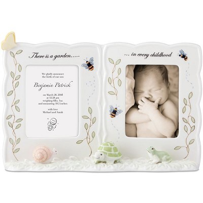 Lenox  BUTTERFLY MEADOW BABY DOUBLE FRAME 7.5 h