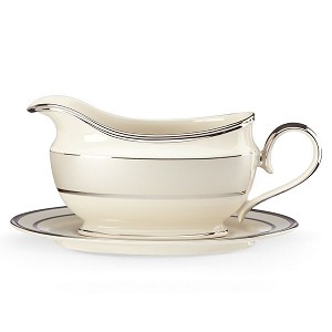 Lenox  IVORY FROST DW SAUCE BOAT & STAND 9.0 l,16 oz