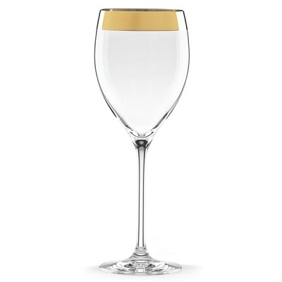 Lenox  TIMELESS WIDE GOLD GOBLET 9.25 in h,12 oz